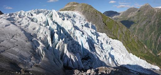 Glacier Flatbreen en Norvège