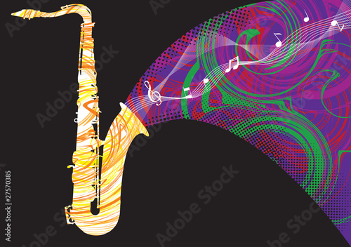Abstract saxophone illustration