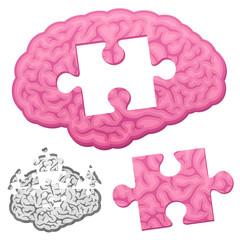 Jigsaw brain puzzle