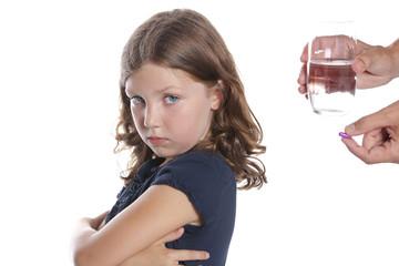 Child wWon't Take Medicine Pill