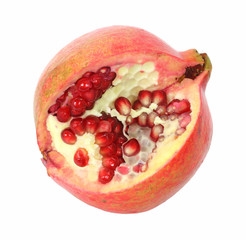Pomegranate showing seeds