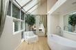 Master bath with skylights