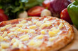 Hawaiian Pizza full Close up 2