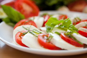 Mozzarella and Basil and Tomato 5