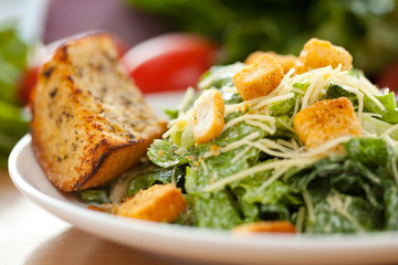 Caesar salad Close up 1
