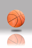 Basketball on gray background