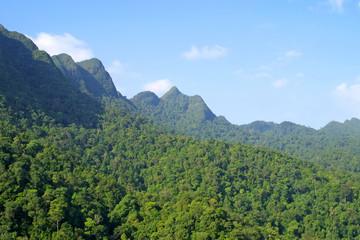Rainforest hills on Langkawi island, Malaysia