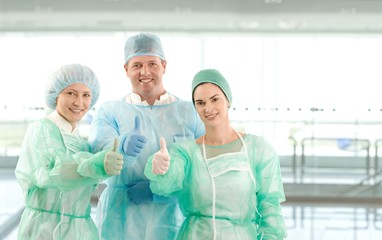 Portrait of surgeon team