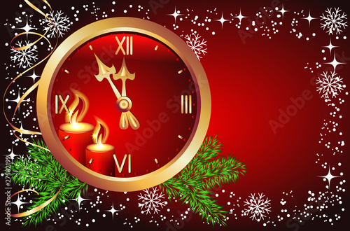poster of Christmas background with chimes