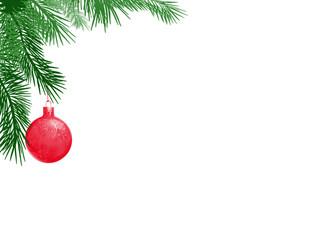 Weihnachtsrahmen mit Kugeln