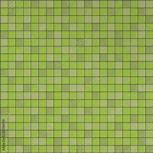 Leinwanddruck Bild 3d graphical render of green mosaic wall