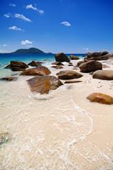 Tropischer Strand in Queensland