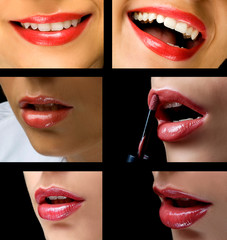 Lips collage