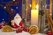 Weihnachtsdekoration mit Laterne