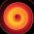 Fire Dot Matrix Background
