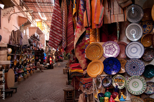 Tuinposter Marokko Souk di Marrakech