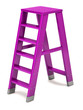 Purple ladder on a white background