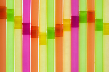Equalizer created with colorful straws, wave