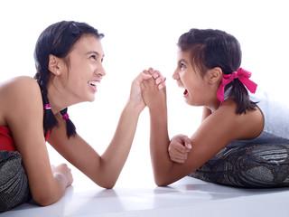 girls arm wrestling
