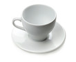 White empty espresso cup