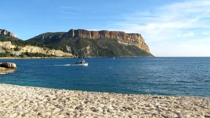 Cap Canaille à Cassis vu de la Corniche du Bestouan