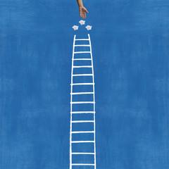 la scala e la mano del paradiso
