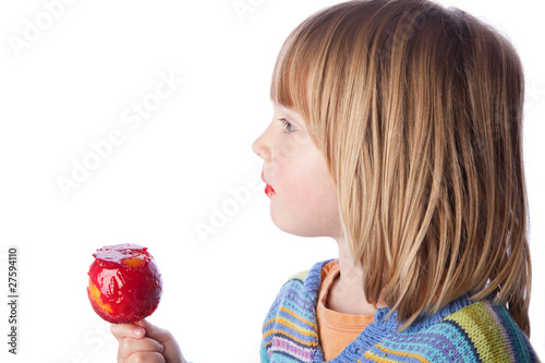 toffee apple child eating sweets
