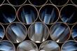 Leinwanddruck Bild - Stahlrohre für eine Pipeline