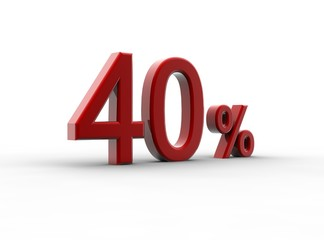 Red 40 percentage