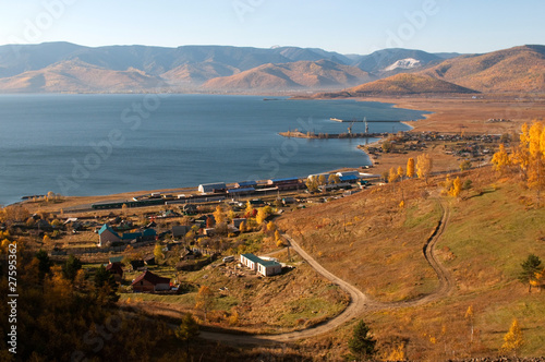 Slyudyanka railway station, Trans-Siberian Railway. Lake Baikal.