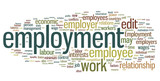 Employment Word Cloud poster