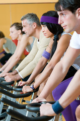 Spinning excercise group