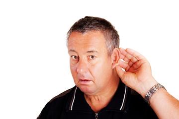 Mann hört schlecht und lauscht 599