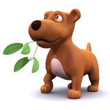 3d Doggy with mistletoe poster