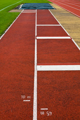 Sport grounds concept - Athletics Track Lane Numbers