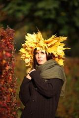 Beautiful autumn women portrait