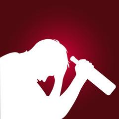 silhouette d'un alcoolique, addiction alcool
