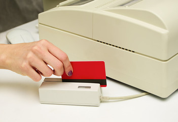 credit card in card reader
