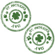 Green grunge stamps for St. Patrick's Day