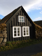 ferme traditionnelle à Skogar (islande)