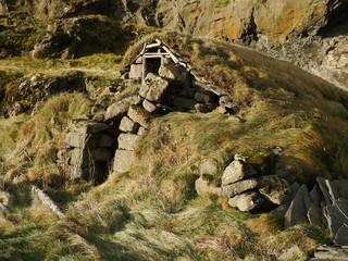 Ruine d'une ferme traditionnelle islandaise