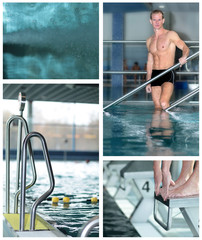 Collage Schwimmbad