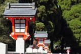 Traditional Japanese lanterns awaits ceremony poster