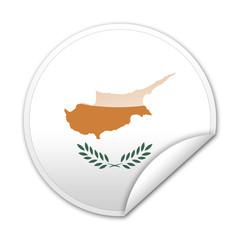 Pegatina bandera Chipre con reborde
