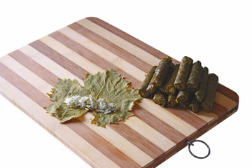 turkish cuisine : stuffed vine leaves