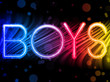 Boys Gay Pride Abstract Colorful Waves on Black Background