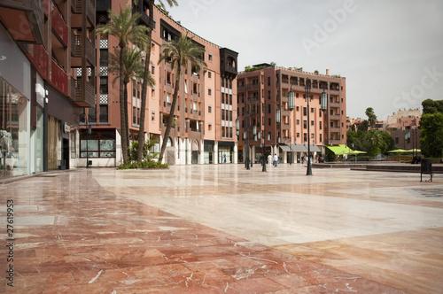Moderner Platz in Marrakesch, Marokko