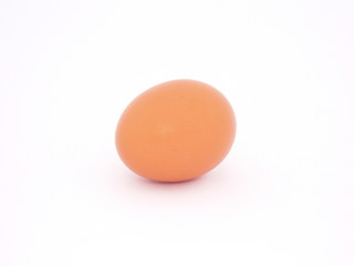 A brown egg on white 01