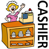 Fast Food Cashier Worker