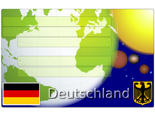 Germany deutsche business card globe national emblem